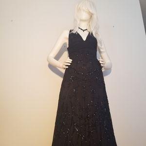 Floor length sequin gown dress